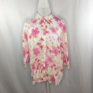 2a798f28ac9c9 3  25 Lemon Grass Women s Button Down Top Sz LG